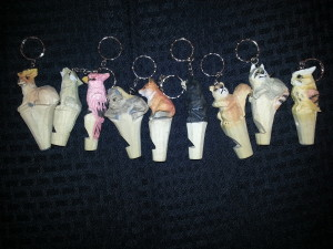 Nine Keychain Whistles